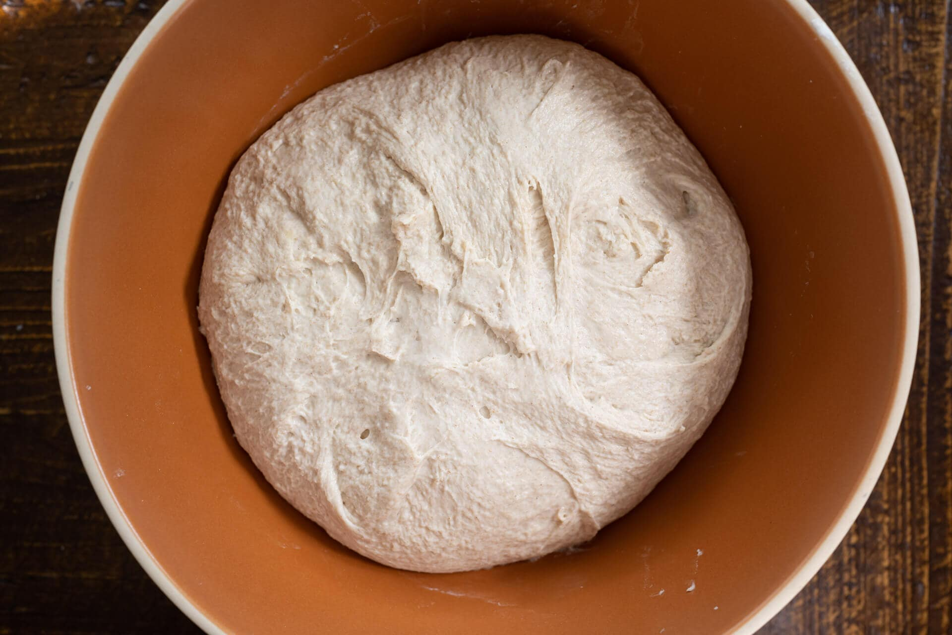 Sourdough Sandwich Bread With Pre-Cooked Flour after mixing