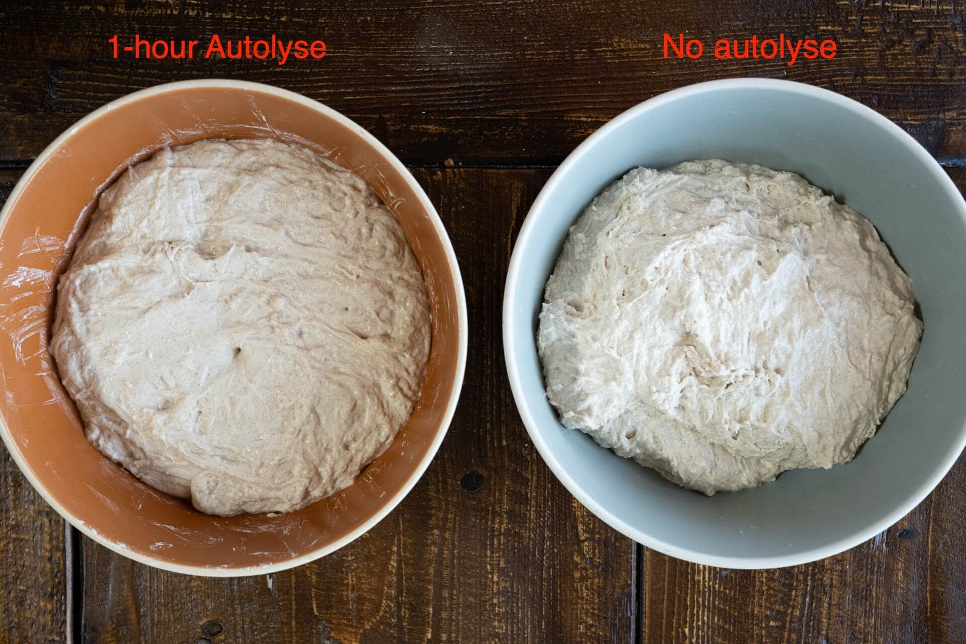 How to autolyse test bake