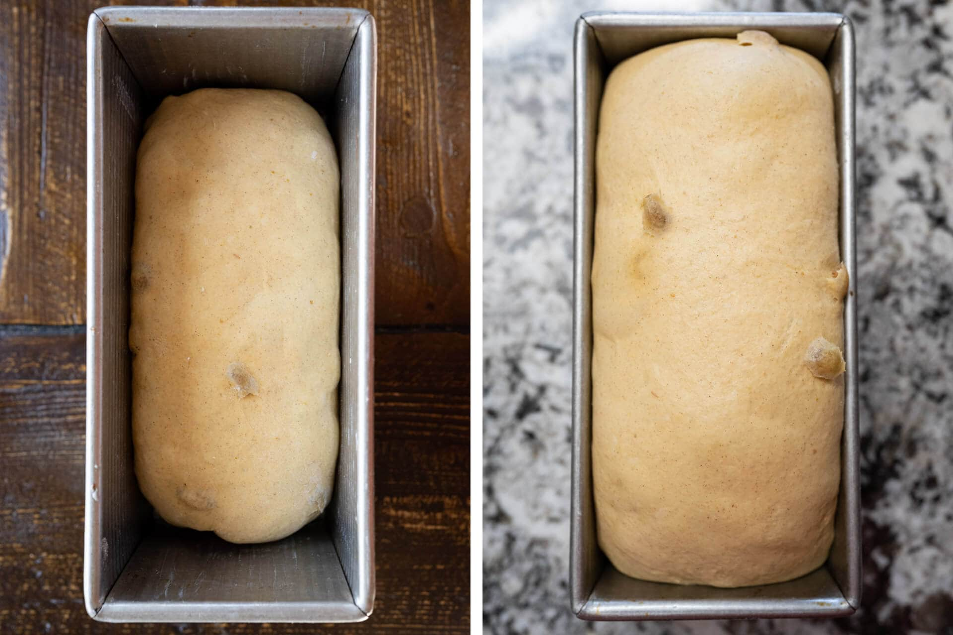 Proof changes for pumpkin cinnamon sourdough bread