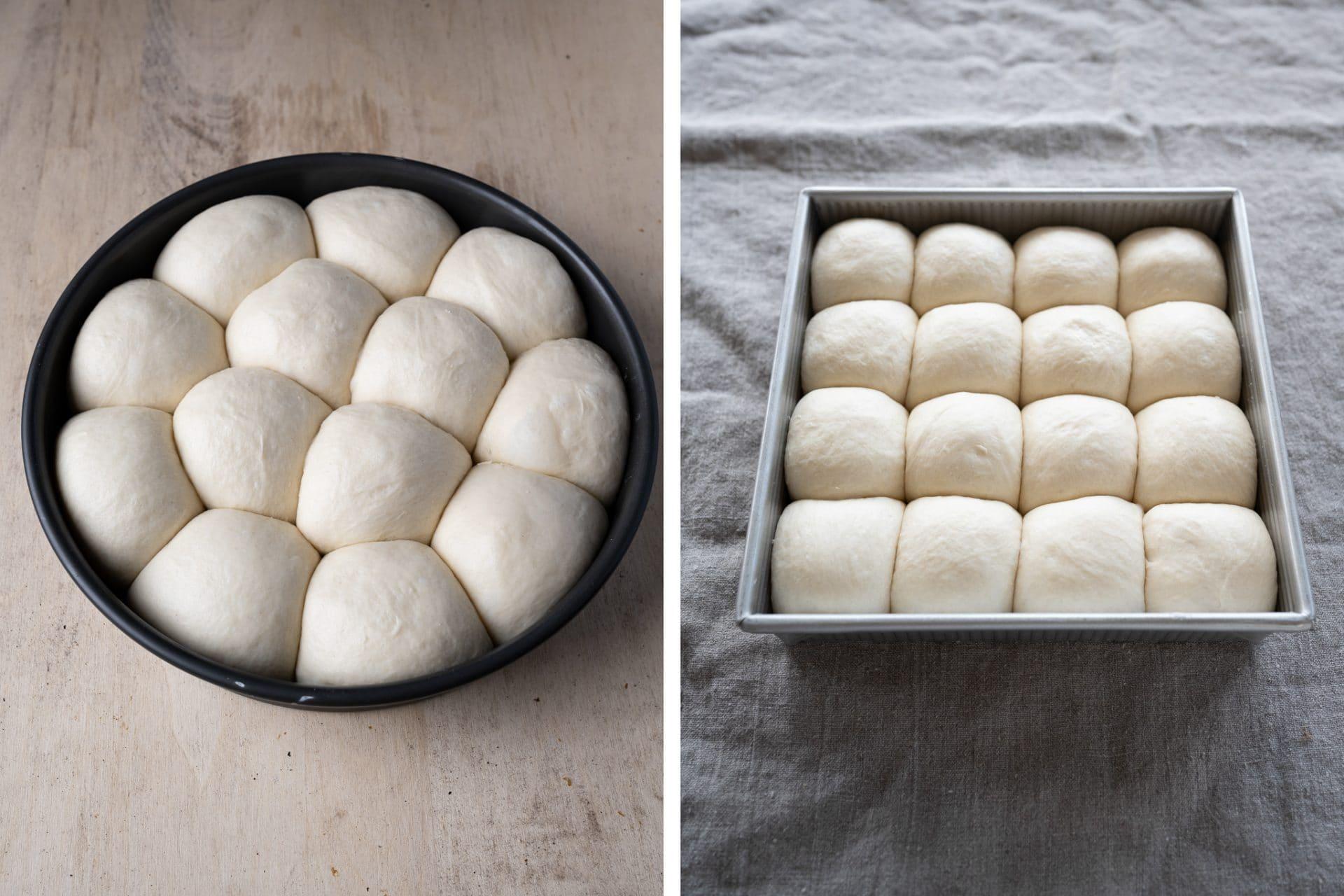 Sourdough rolls baking pan comparison