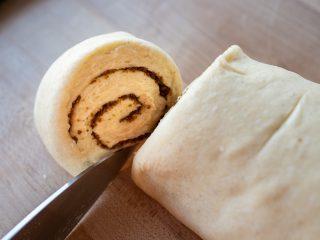 Cut sourdough cardamom roll