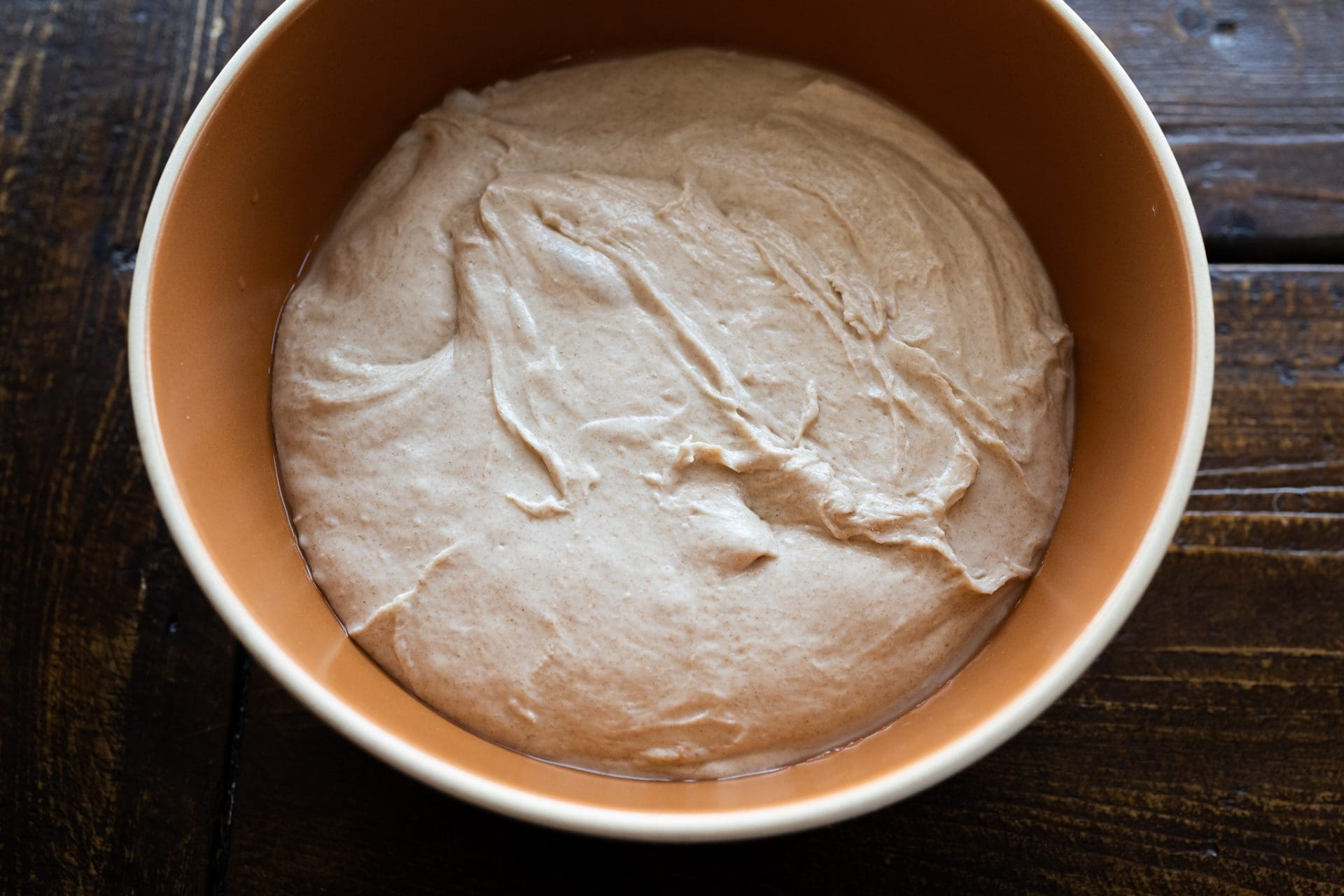 Dough at the end of mixing
