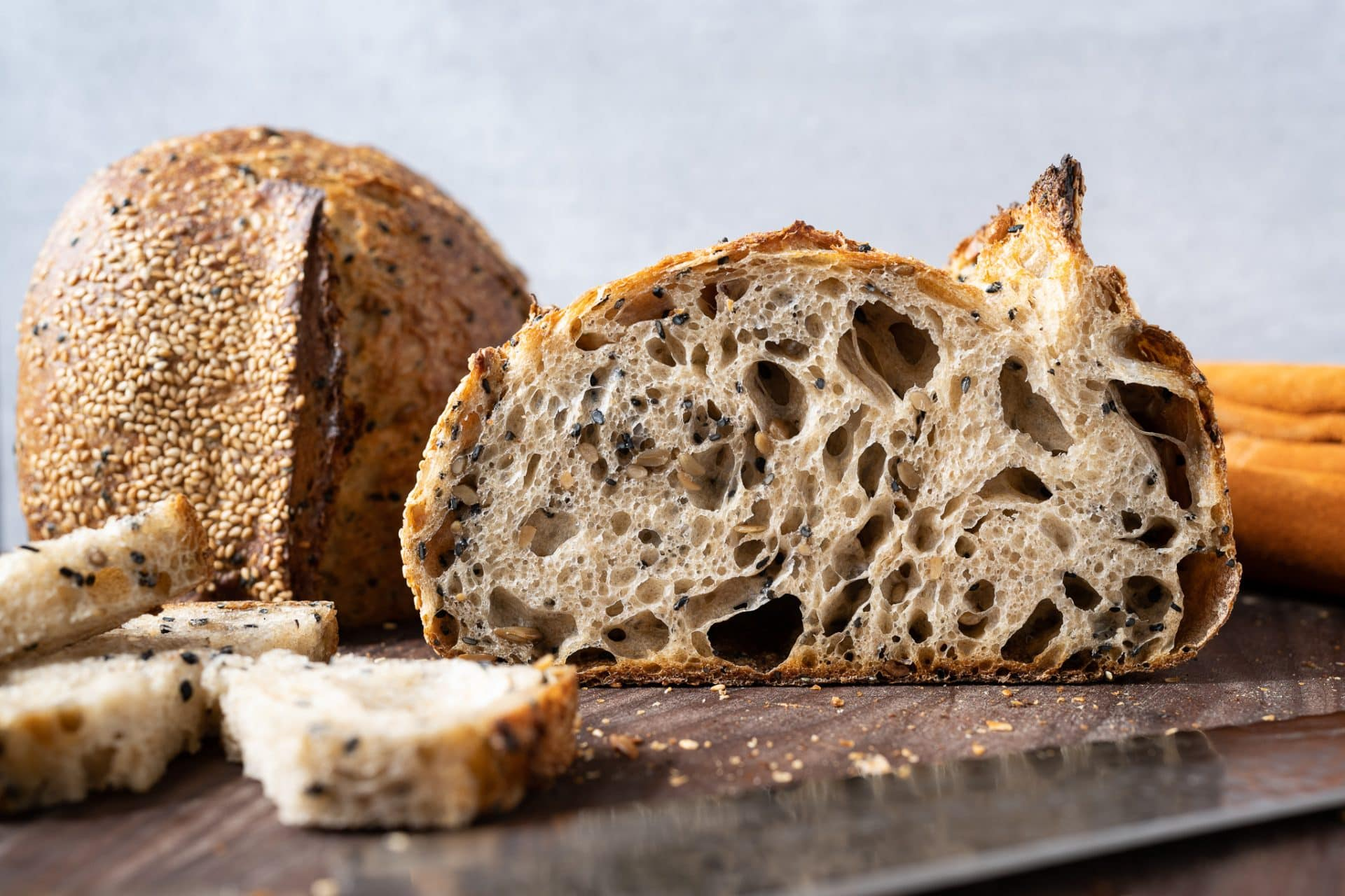 roasted sunflower and sesame bread
