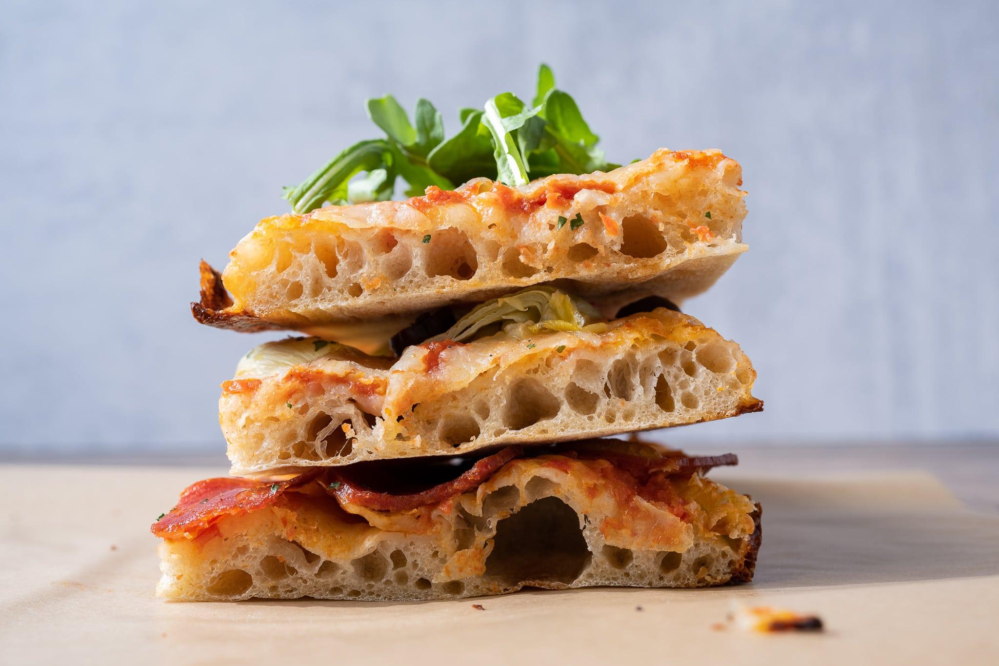 Sourdough sheet pan pizza