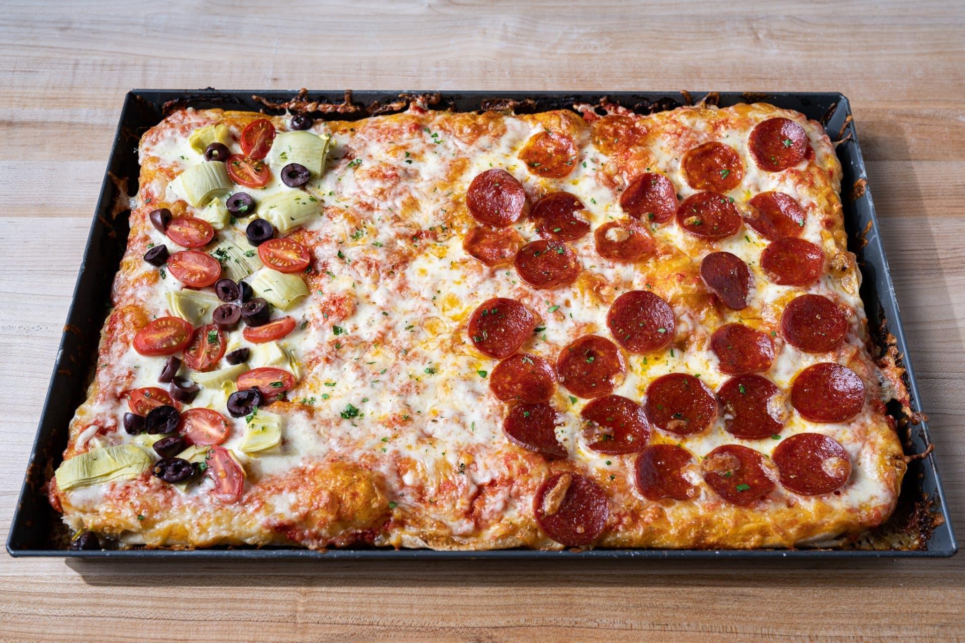 Sourdough pizza al taglio