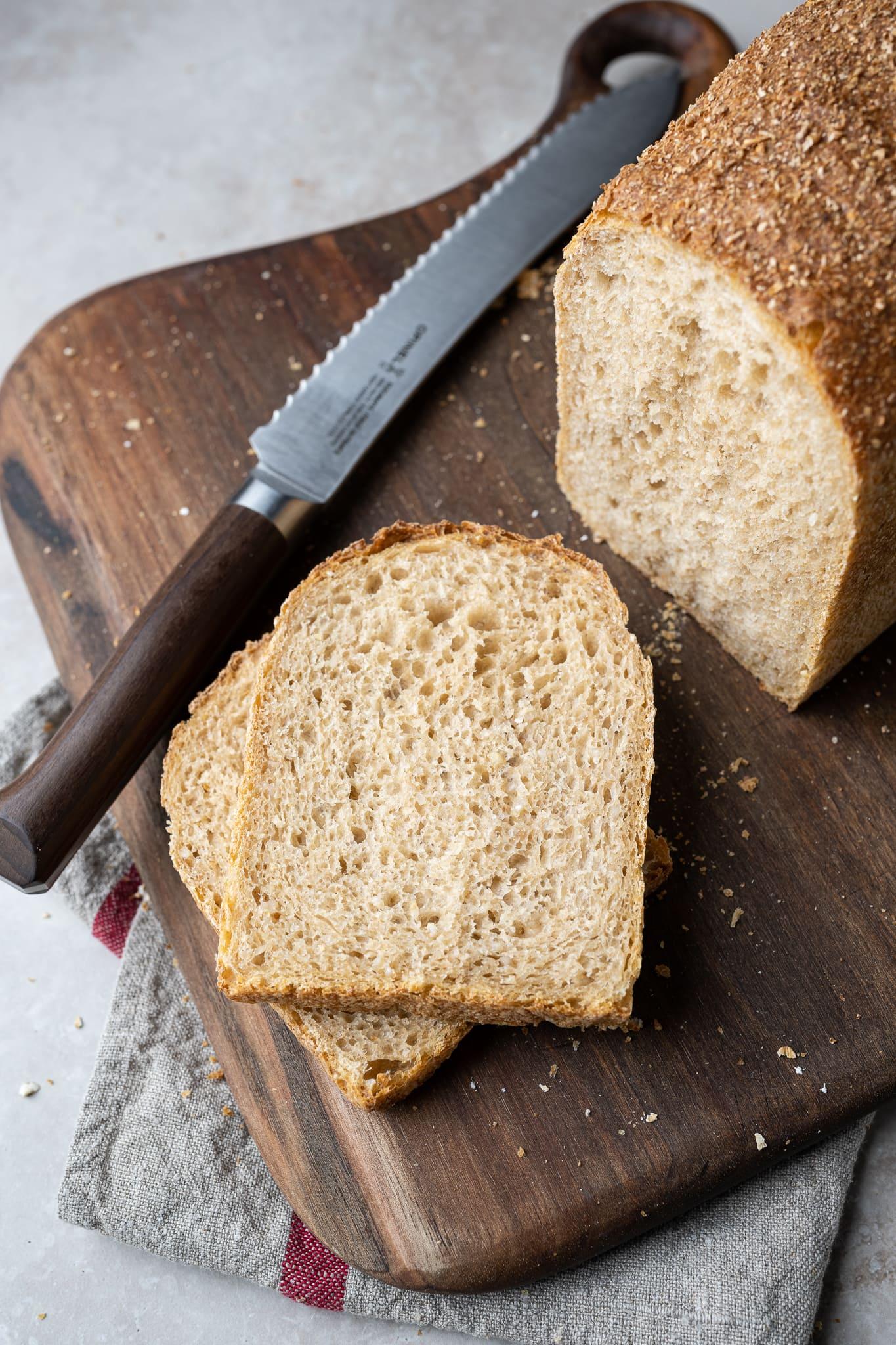 Super tender sandwich bread crumb