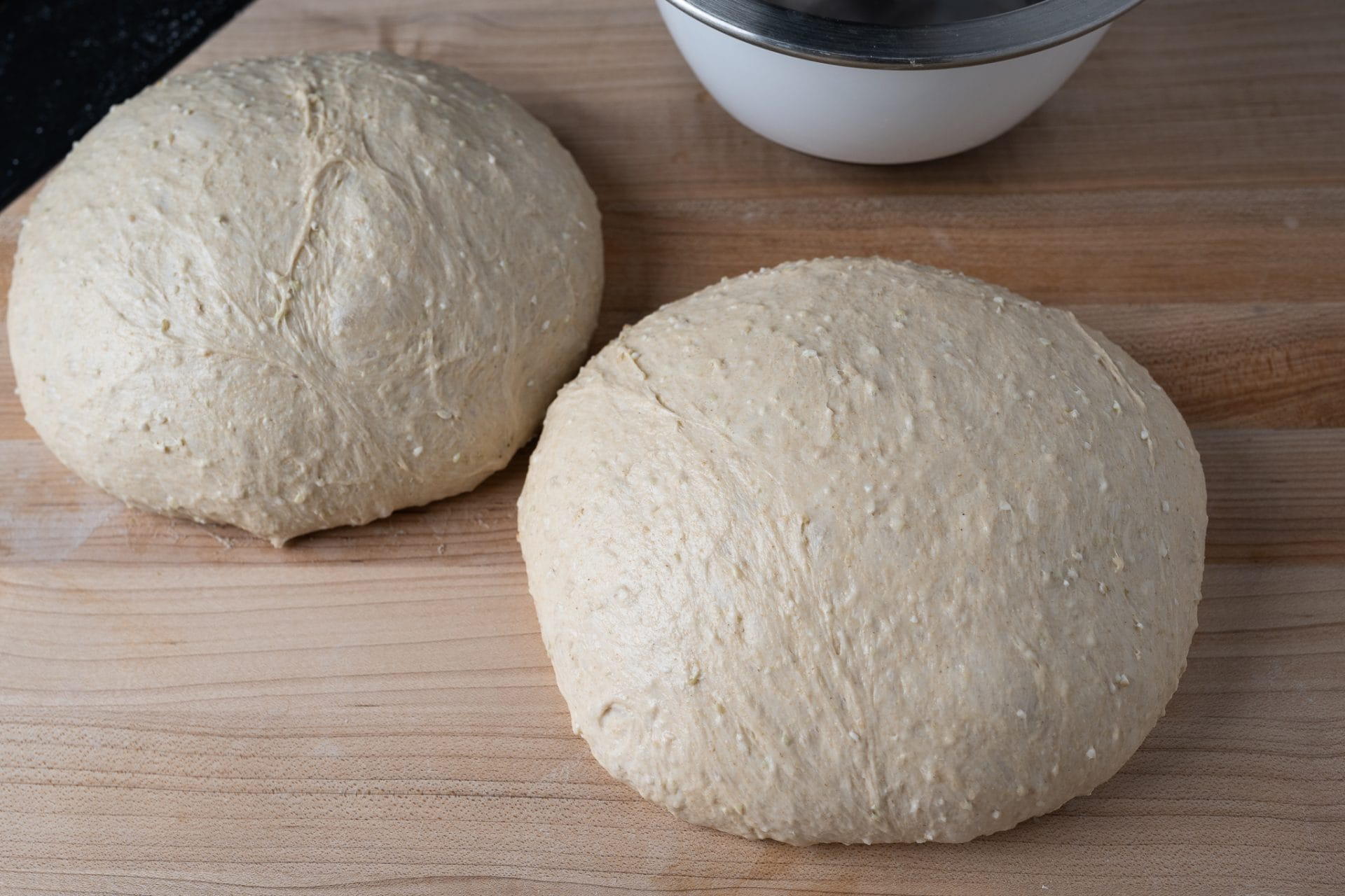 Preshaped soft honey buckwheat sandwich bread dough