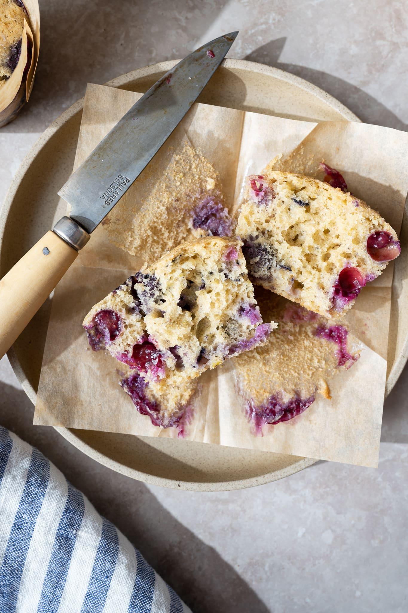 Sourdough blueberry muffins