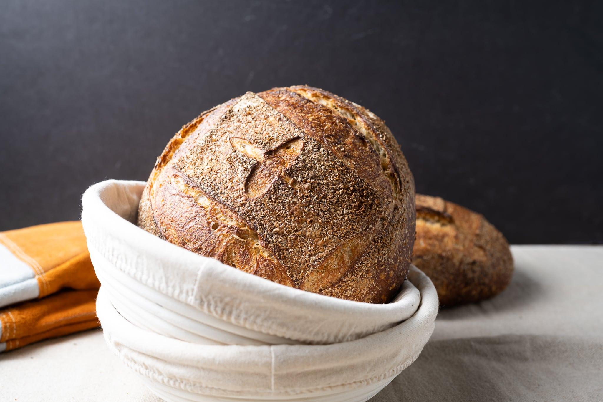 No-knead sourdough bread recipe